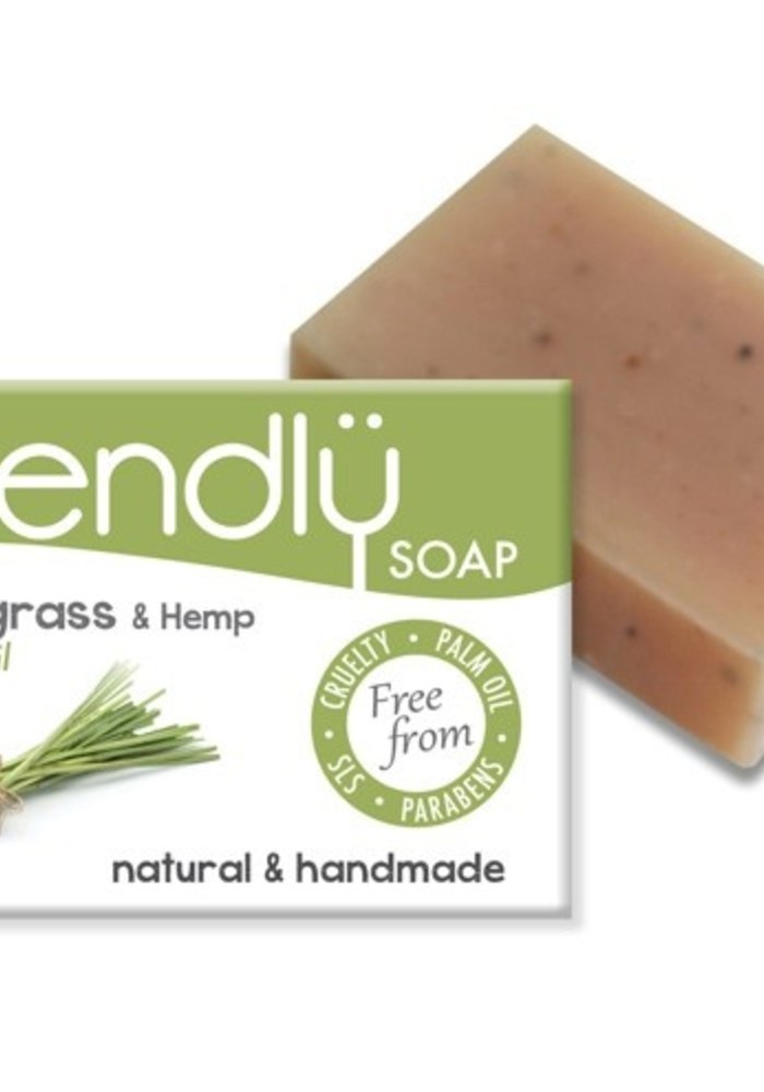 Handmade Soap: Lemongrass and Hemp Seed Bar 95g