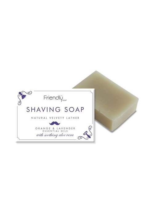 Friendly Soap Handmade Soap: Shaving Soap Bar 95g
