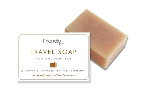 Friendly Soap Handmade Soap: Travel Hair and Body Soap 95g