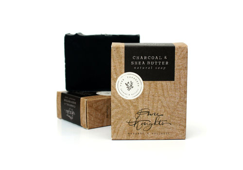 Pure Thoughts Handmade Soap - Charcoal and Shea Butter