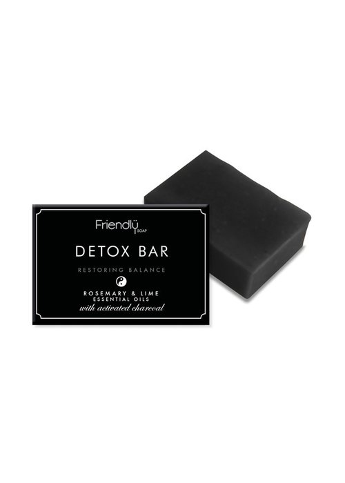 Friendly Soap Handmade Soap: Activated Charcoal 95g
