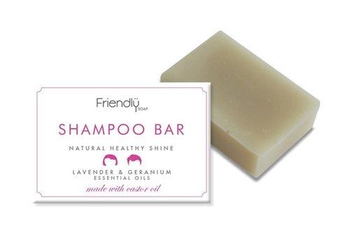 Friendly Soap Handmade Soap: Shampoo Soap Bar, Geranium 95g