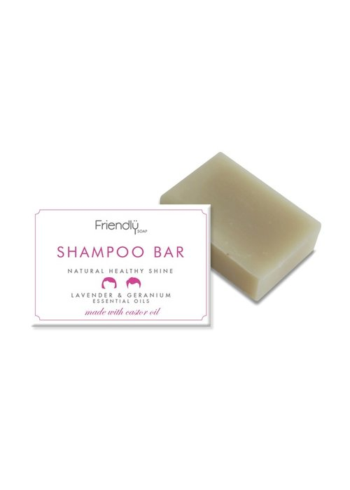 Friendly Soap Shampoo Soap Bar: Geranium 95g
