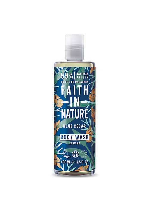 Faith In Nature Body Wash: Blue Cedar 400ml