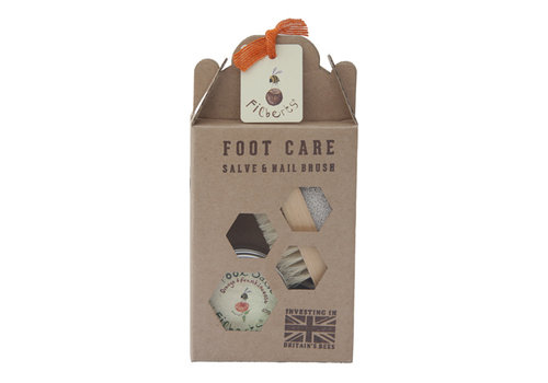 Filberts of Dorset Gift Favour: Foot Salve 40g with Pumice Brush/Nail Brush