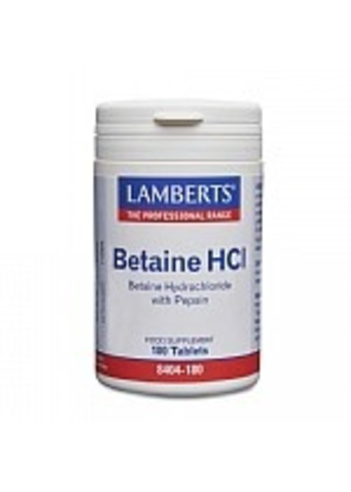 Lamberts Betaine Hydrochloride with Pepsin 90 tabs