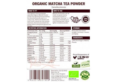 Indigo Herbs Organic Matcha Tea Powder – 50g