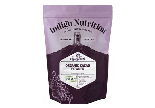 Indigo Herbs Organic Cacao Powder – 500g