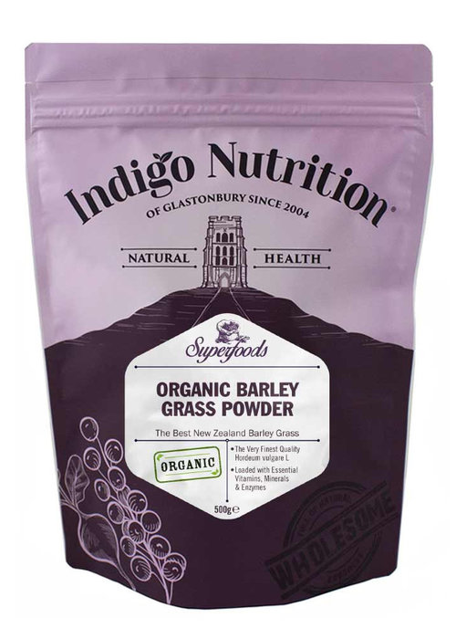 Indigo Herbs Organic Barley Grass Powder (New Zealand) – 100g