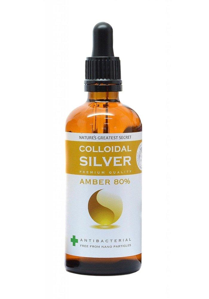 Colloidal Silver Amber 80% Dropper 100ml