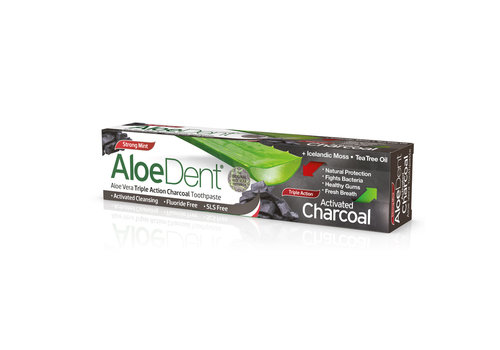 Aloe Dent Charcoal Fluoride Free Toothpaste 100ml