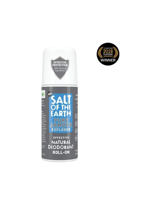 Salt of the Earth Natural Deodorant Roll On - Pure Armour Explorer