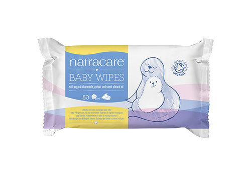 Natracare Organic Baby Wipes 50's