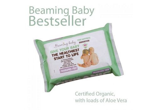 Beaming Baby Organic Baby Wipes Fragrance Free 72 wipes