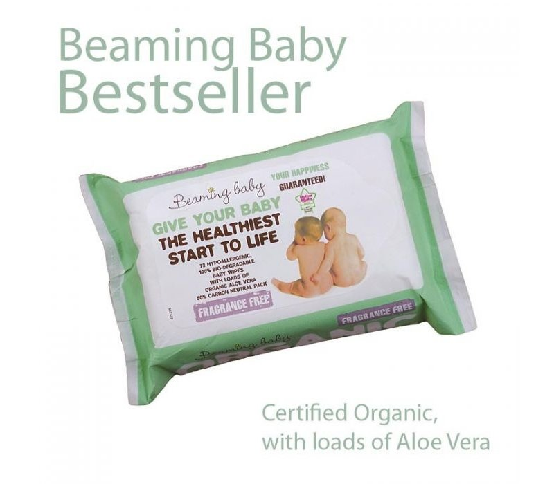 Organic Baby Wipes Fragrance Free 72 wipes