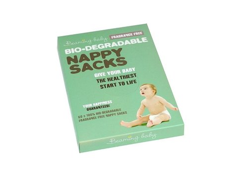 Beaming Baby Bio Degradable Nappy Sacks Fragrance Free 60 sacks