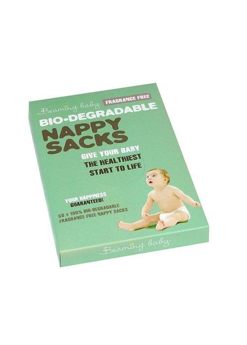 Beaming Baby Bio Degradable Nappy Sacks Fragrance Free 60 sacks