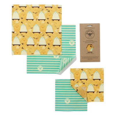 The Beeswax Wrap Co  Food Wrap - Lunch Pack
