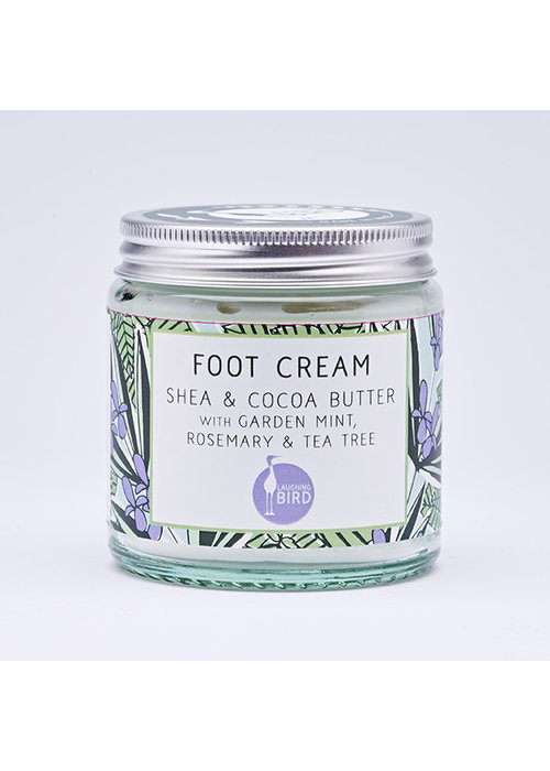 Laughing Bird Foot Cream - Shea and Cocoa Butter with Rosemary, Mint and Tea Tree