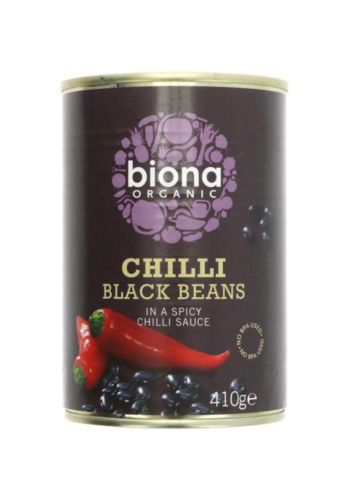 Organic Black Beans with Chilli 400g