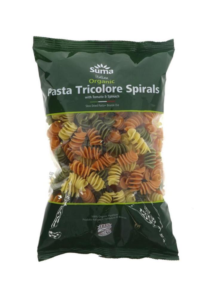 Organic Tricolore Pasta Spirals 500g