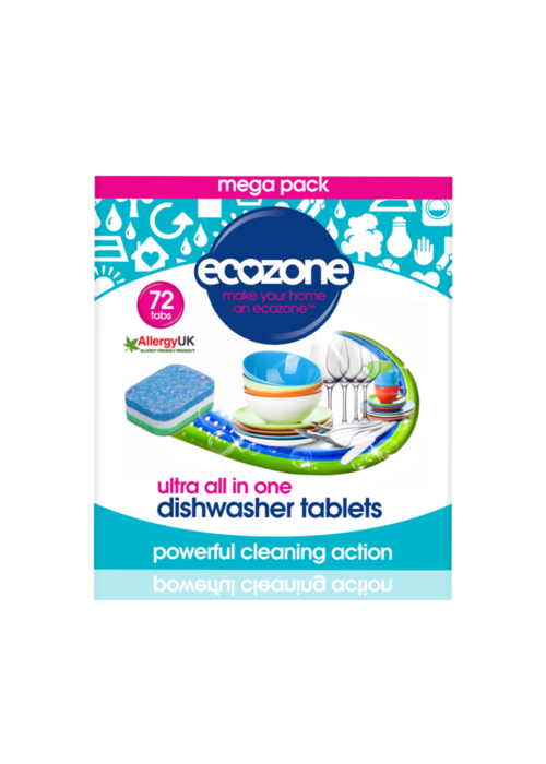 EcoZone Dishwasher tablets: Ultra All in One 72 tabs