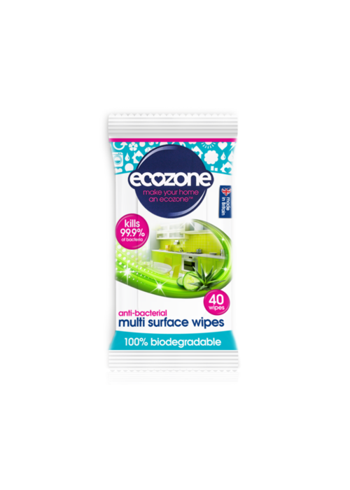 EcoZone Anti-bacterial Multi Surface Wipes 40 Wipes