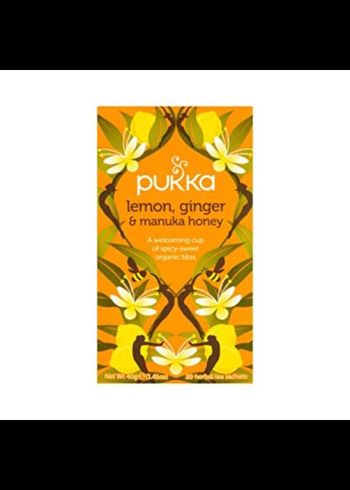 Pukka Organic Tea - Lemon, Ginger and Manuka Honey
