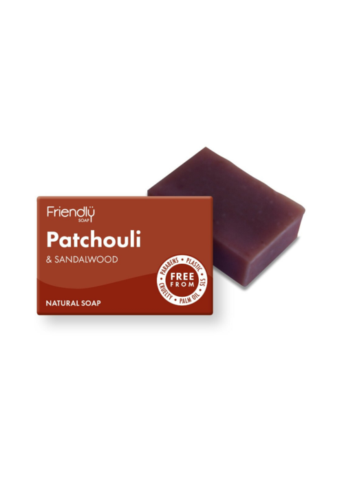 Friendly Soap Handmade Soap: Patchouli and Sandalwood 95g