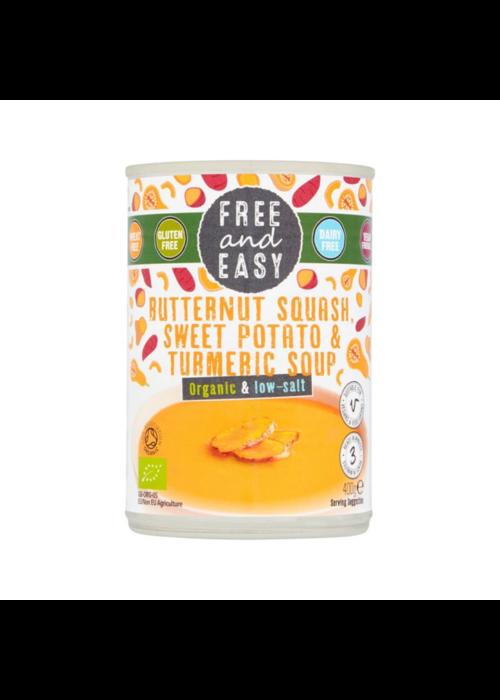 Free & Easy Butternut Squash & Sweet Potato Soup