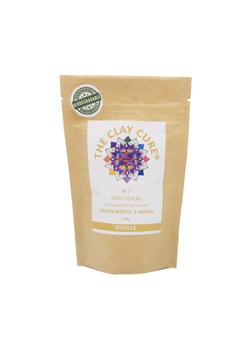 Clay Cure Tooth Powder Refill - Lemon Myrtle & Myrrh
