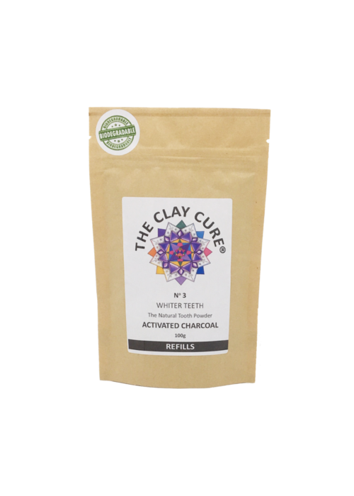 The Clay Cure Tooth Powder Refill - Activated Charcoal
