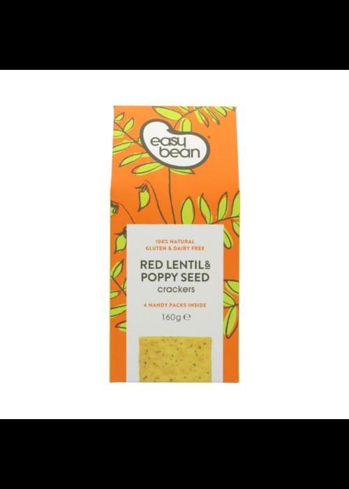 Easy Bean Red Lentil & Poppyseed Crackers