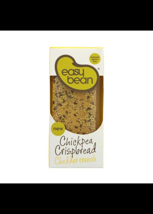 Easy Bean Chickpea Cheddar Crispbread