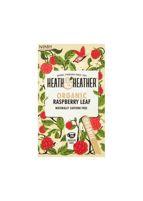 Heath and Heather Tea Organic Raspberry Leaf Tea 20 Bags