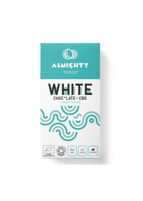 Almighty Foods CBD White Chocolate