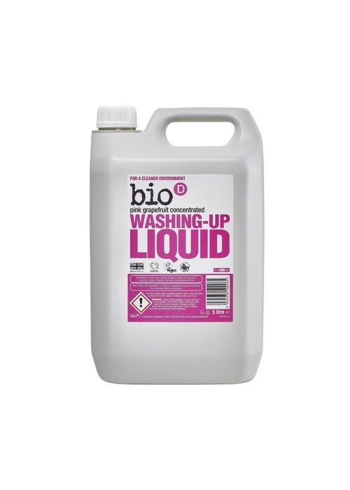 Bio-D 5ltr Washing-up Liquid: Pink Grapefruit