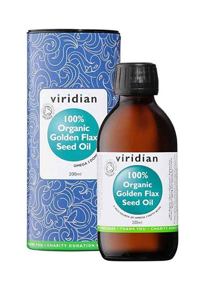 100% Organic Golden Flax Seed Oil 200ml