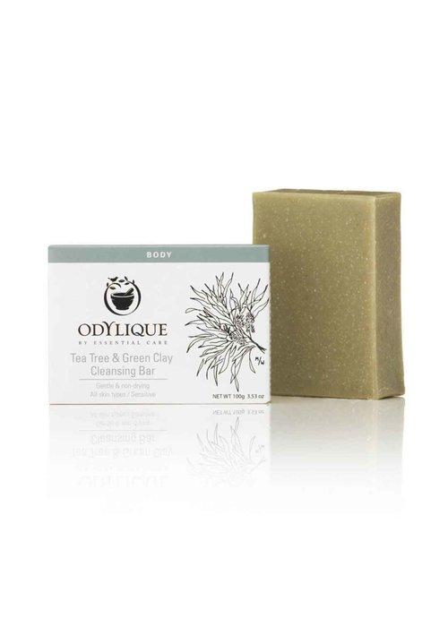 Odylique Cleansing Bar -Tea Tree & Green Clay: Organic