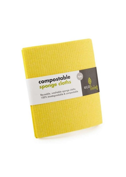 Ecoliving Sponge Cleaning Cloths - Compostable