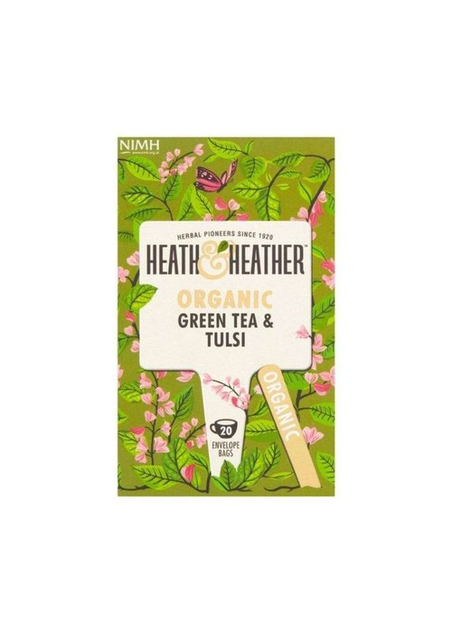 Heath and Heather Green Tea & Tulsi - Organic
