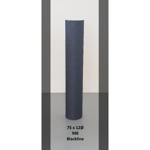 RHRQuality Sisalpole 75x12Ø M8 BLACKLINE