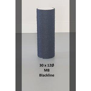 RHRQuality Sisalpole 30x12Ø M8 BLACKLINE