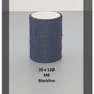 RHRQuality Sisalpole 20x12Ø M8 BLACKLINE