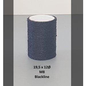 RHRQuality Sisalpole 19,5x12Ø M8 BLACKLINE