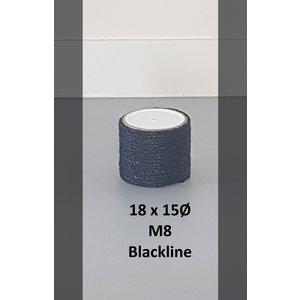 RHRQuality Sisalpole 18x15Ø M8 BLACKLINE
