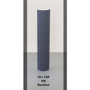RHRQuality Sisalpole 59x15Ø M8 BLACKLINE