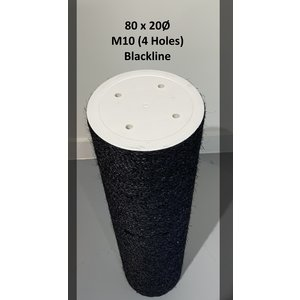 RHRQuality Sisalpole 80x20Ø M10 BLACKLINE (4 holes)