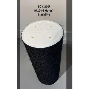 RHRQuality Sisalpole 50x20Ø M10 BLACKLINE (4 holes)