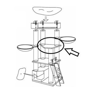 RHRQuality Triangle Shape Upper Plate - Corner Coon Creme